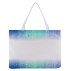 Blue Stripe With Water Droplets Medium Zipper Tote Bag