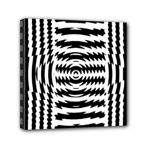 Black And White Abstract Stripped Geometric Background Mini Canvas 6  X 6