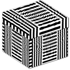 Black And White Abstract Stripped Geometric Background Storage Stool 12