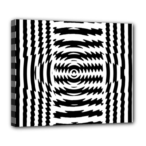 Black And White Abstract Stripped Geometric Background Deluxe Canvas 24  X 20