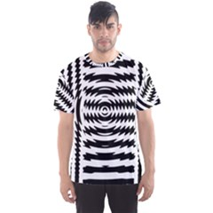Black And White Abstract Stripped Geometric Background Men s Sport Mesh Tee