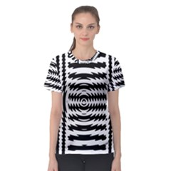 Black And White Abstract Stripped Geometric Background Women s Sport Mesh Tee