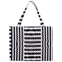 Black And White Abstract Stripped Geometric Background Mini Tote Bag