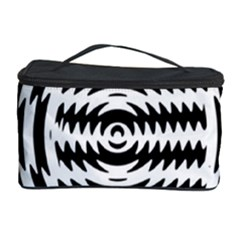 Black And White Abstract Stripped Geometric Background Cosmetic Storage Case