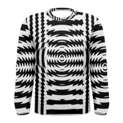 Black And White Abstract Stripped Geometric Background Men s Long Sleeve Tee