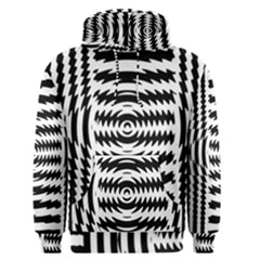 Black And White Abstract Stripped Geometric Background Men s Pullover Hoodie