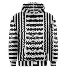 Black And White Abstract Stripped Geometric Background Men s Zipper Hoodie