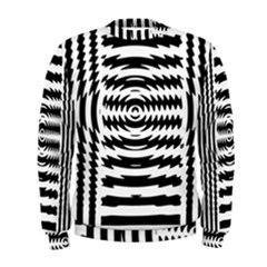 Black And White Abstract Stripped Geometric Background Men s Sweatshirt