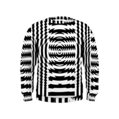 Black And White Abstract Stripped Geometric Background Kids  Sweatshirt