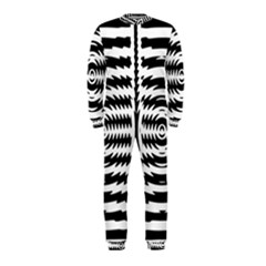 Black And White Abstract Stripped Geometric Background OnePiece Jumpsuit (Kids)