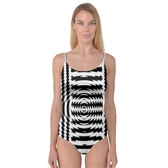 Black And White Abstract Stripped Geometric Background Camisole Leotard