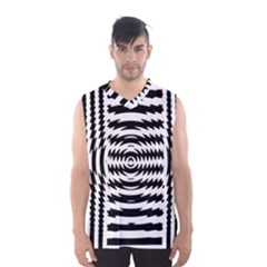 Black And White Abstract Stripped Geometric Background Men s Basketball Tank Top