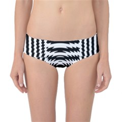 Black And White Abstract Stripped Geometric Background Classic Bikini Bottoms