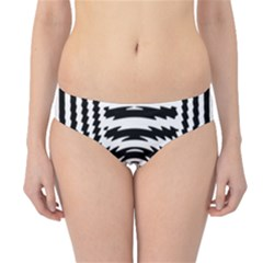 Black And White Abstract Stripped Geometric Background Hipster Bikini Bottoms