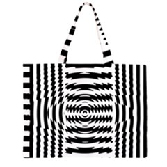 Black And White Abstract Stripped Geometric Background Large Tote Bag