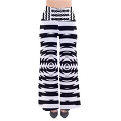 Black And White Abstract Stripped Geometric Background Pants