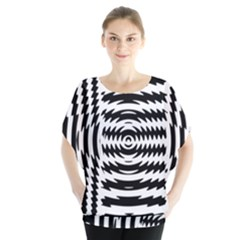 Black And White Abstract Stripped Geometric Background Blouse