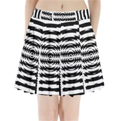 Black And White Abstract Stripped Geometric Background Pleated Mini Skirt