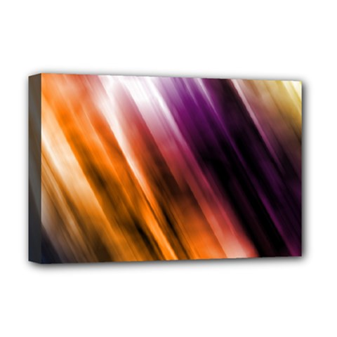 Colourful Grunge Stripe Background Deluxe Canvas 18  X 12