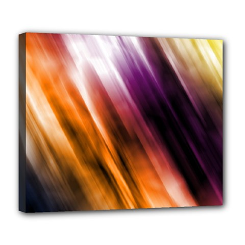 Colourful Grunge Stripe Background Deluxe Canvas 24  X 20