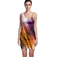 Colourful Grunge Stripe Background Sleeveless Bodycon Dress