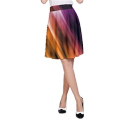 Colourful Grunge Stripe Background A Line Skirt