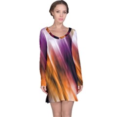 Colourful Grunge Stripe Background Long Sleeve Nightdress