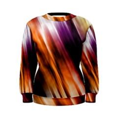 Colourful Grunge Stripe Background Women s Sweatshirt