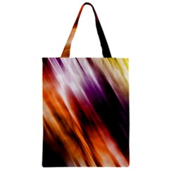 Colourful Grunge Stripe Background Zipper Classic Tote Bag
