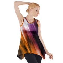 Colourful Grunge Stripe Background Side Drop Tank Tunic
