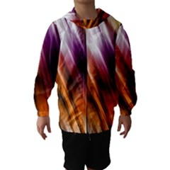 Colourful Grunge Stripe Background Hooded Wind Breaker (Kids)