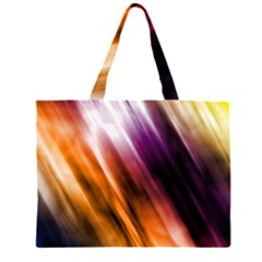 Colourful Grunge Stripe Background Large Tote Bag