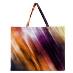 Colourful Grunge Stripe Background Zipper Large Tote Bag