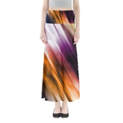 Colourful Grunge Stripe Background Maxi Skirts