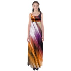 Colourful Grunge Stripe Background Empire Waist Maxi Dress