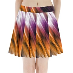 Colourful Grunge Stripe Background Pleated Mini Skirt