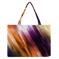 Colourful Grunge Stripe Background Medium Zipper Tote Bag