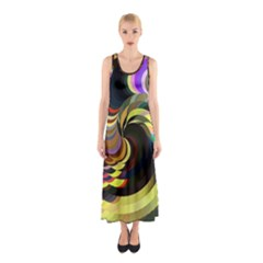 Spiral Of Tubes Sleeveless Maxi Dress