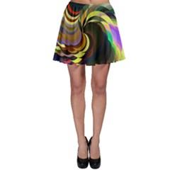 Spiral Of Tubes Skater Skirt