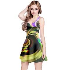Spiral Of Tubes Reversible Sleeveless Dress