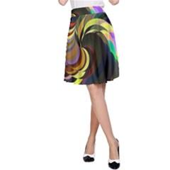 Spiral Of Tubes A Line Skirt