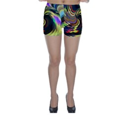 Spiral Of Tubes Skinny Shorts