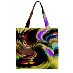 Spiral Of Tubes Zipper Grocery Tote Bag