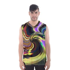 Spiral Of Tubes Men s Basketball Tank Top