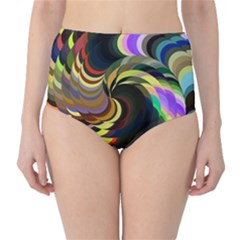 Spiral Of Tubes High Waist Bikini Bottoms