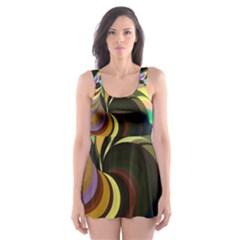 Spiral Of Tubes Skater Dress Swimsuit