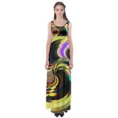 Spiral Of Tubes Empire Waist Maxi Dress