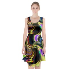 Spiral Of Tubes Racerback Midi Dress