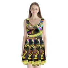 Spiral Of Tubes Split Back Mini Dress