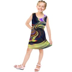 Spiral Of Tubes Kids  Tunic Dress